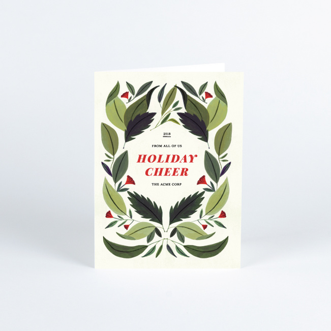 Leafy Frame Business and Corporate Holiday Cards - Multi