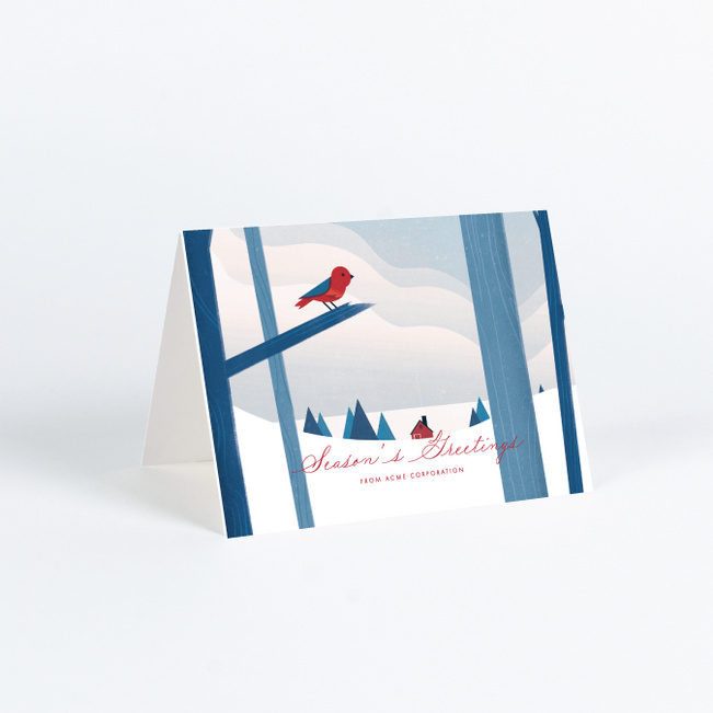 Winter Cottage Business and Corporate Holiday Cards - Multi