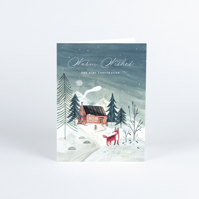 Winter Scene Business And Corporate Holiday Cards