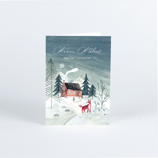 Winter Scene Business and Corporate Holiday Cards - Multi