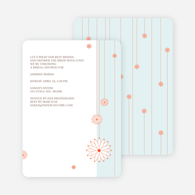 Bridal Tea Shower Invitations - Blue