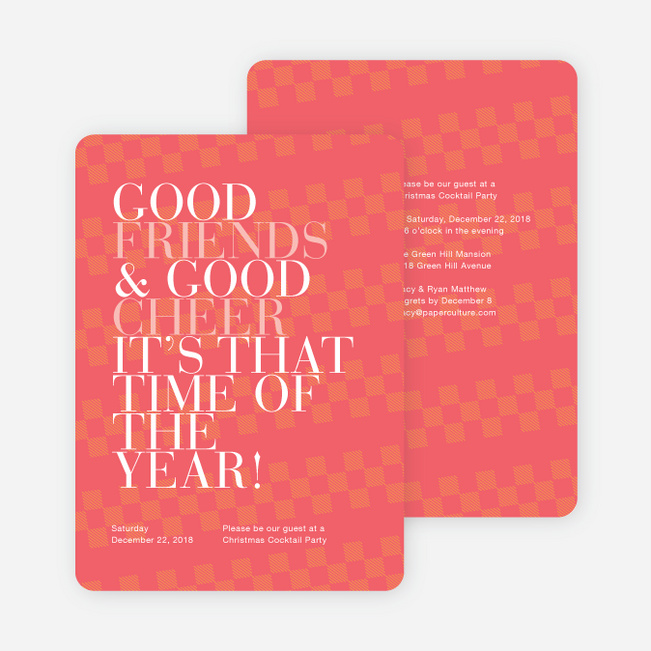 Holiday Party Invitations Paper Culture