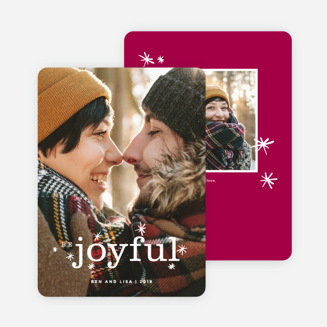 Be Joyful Holiday Cards - Red