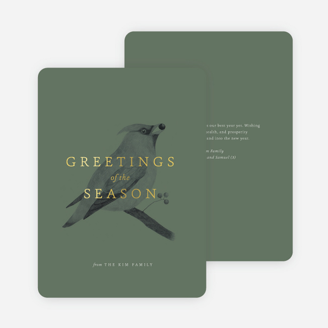 Bird greetings multi photo holiday cards paper culture m4hsunfo