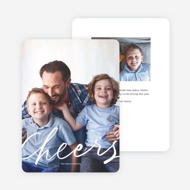 Cheers To You Multi Photo Holiday Cards - White