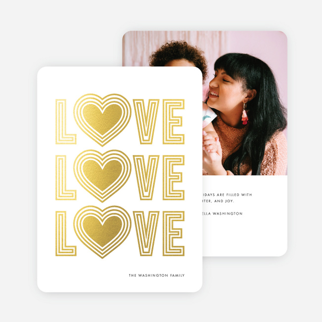 Love Always Wins Christmas Photo Cards & Holiday Photo Cards - Yellow