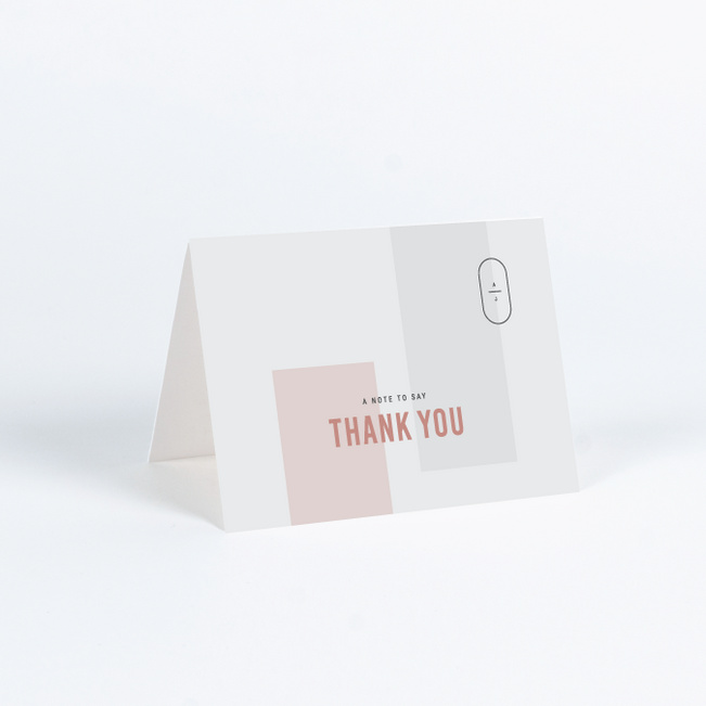 Artisanal Details Wedding Thank You Cards - Pink