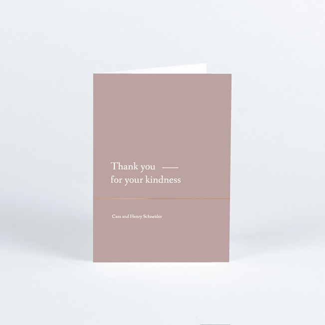 Foil Cornerside Wedding Thank You Cards - Pink