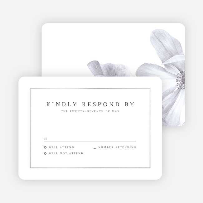 Modern Meets Vintage Wedding Response Cards - Gray