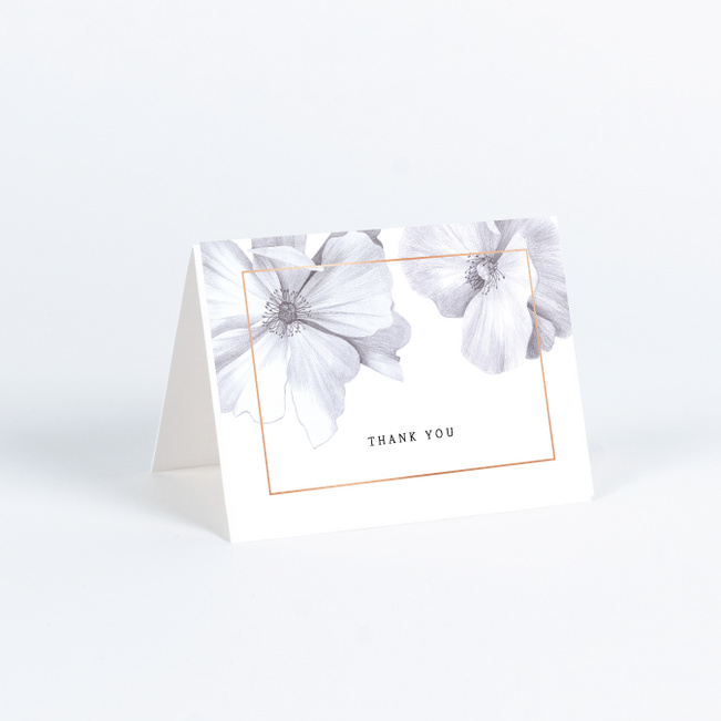 Modern Meets Vintage Wedding Thank You Cards - Pink