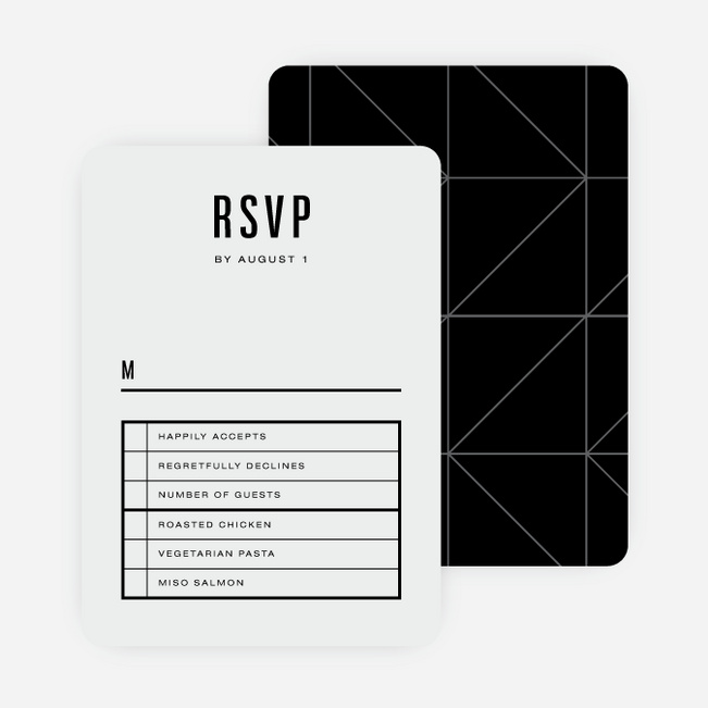 Modern Times Wedding Response Cards - Beige