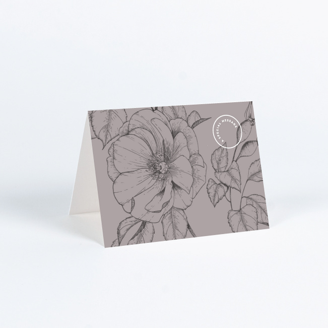 Surprise Flowers Wedding Thank You Cards - Gray
