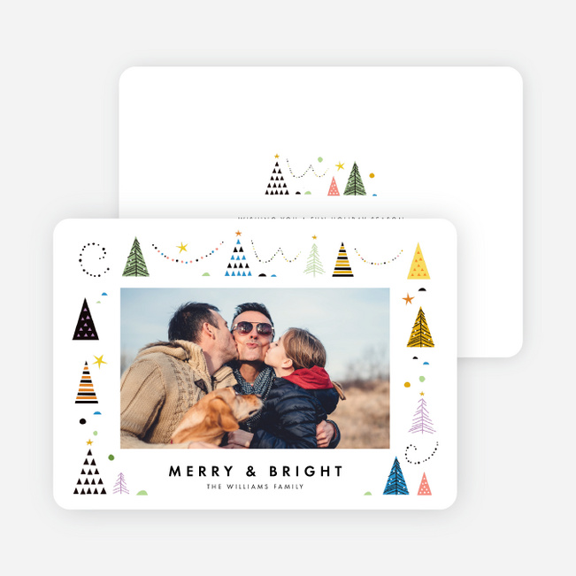 Tree Types Christmas Holiday Cards - Multi