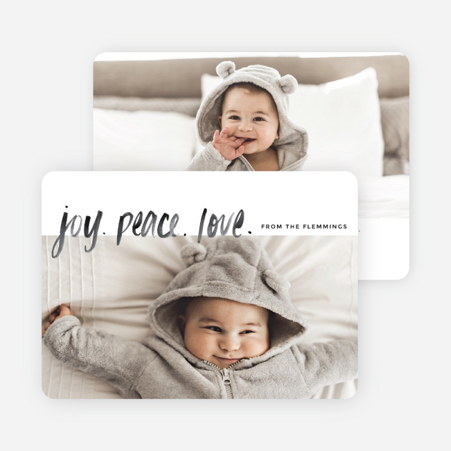 Front & Center Christmas Cards - Black