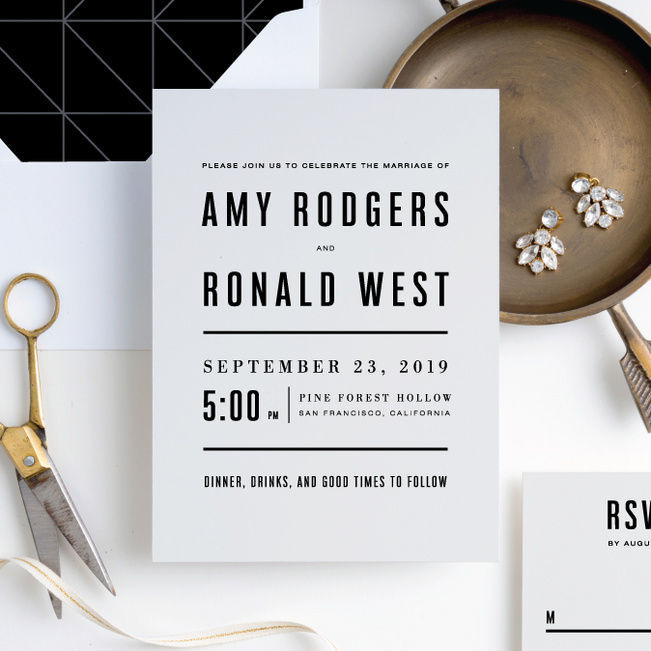 Contemporary Wedding Invitations: Wedding Invitation Suites