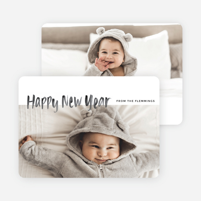 Photo Fun New Year Cards - Black