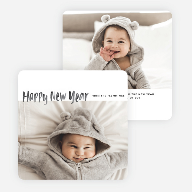 photo fun new year cards black