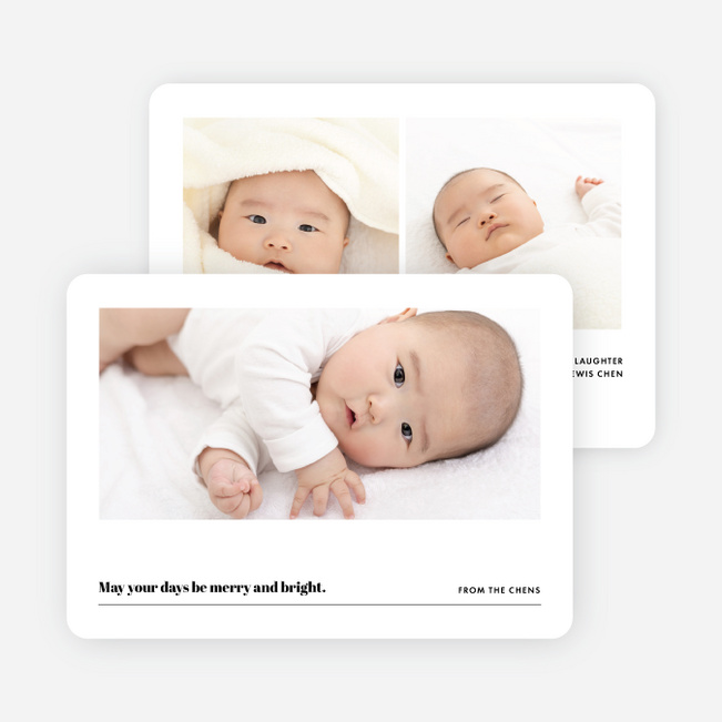 Slideshow Family Photo Holiday Cards - Black