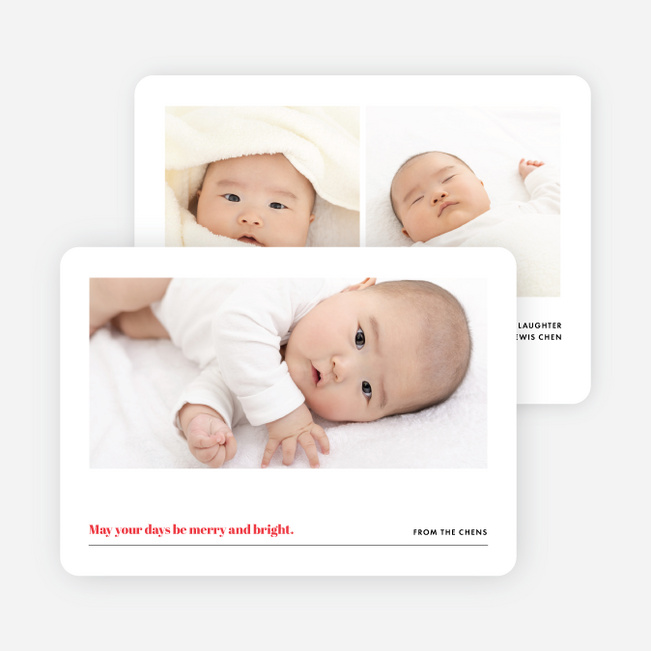 Slideshow Family Photo Holiday Cards - Red