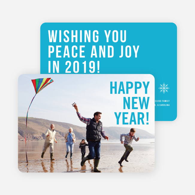 Big Wishes New Year Cards - Blue