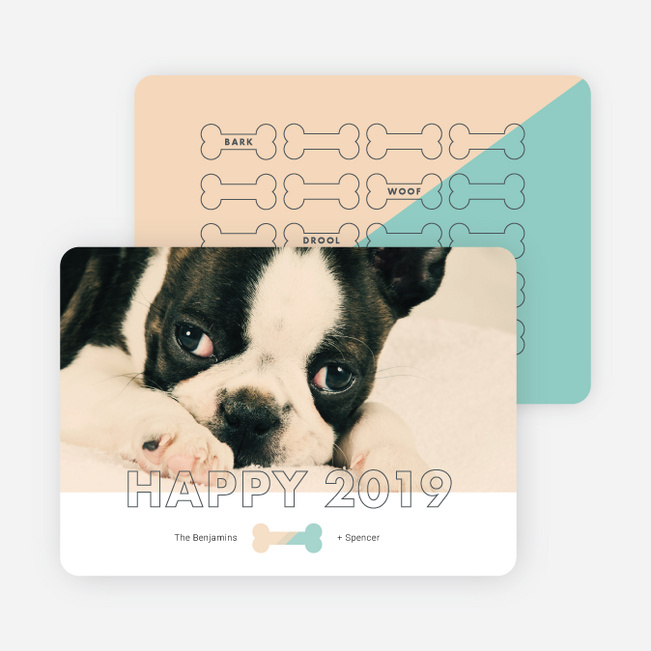Good Dog New Year Cards - Beige