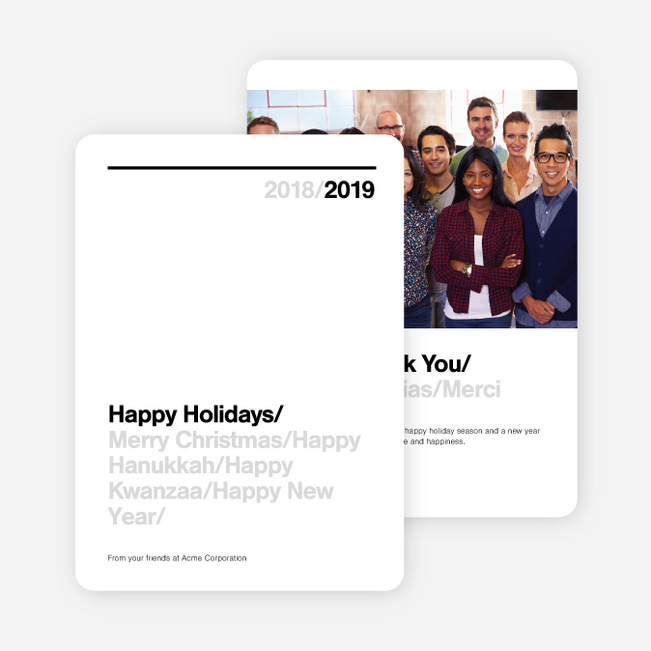 Greetings Corporate Holiday Cards - Black
