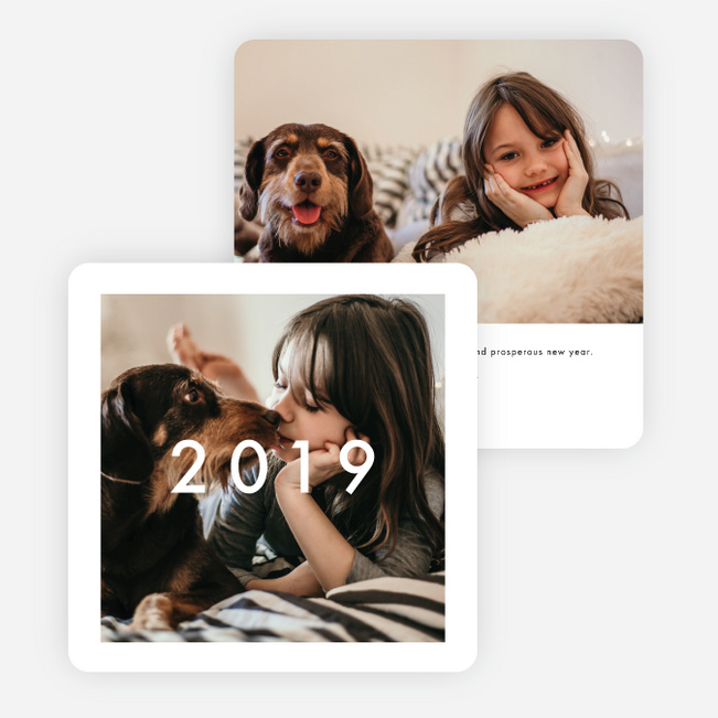 Photo First Holiday Cards - Black