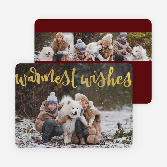 Warm Wishes Holiday Cards - Red