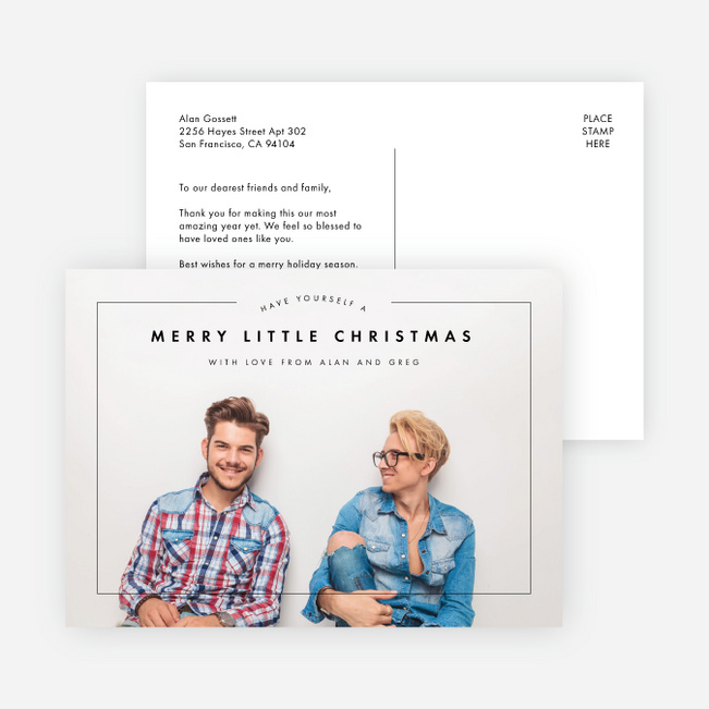 Merry Arc Christmas Cards - Black