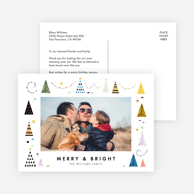 Tree Types Christmas Cards - Multi