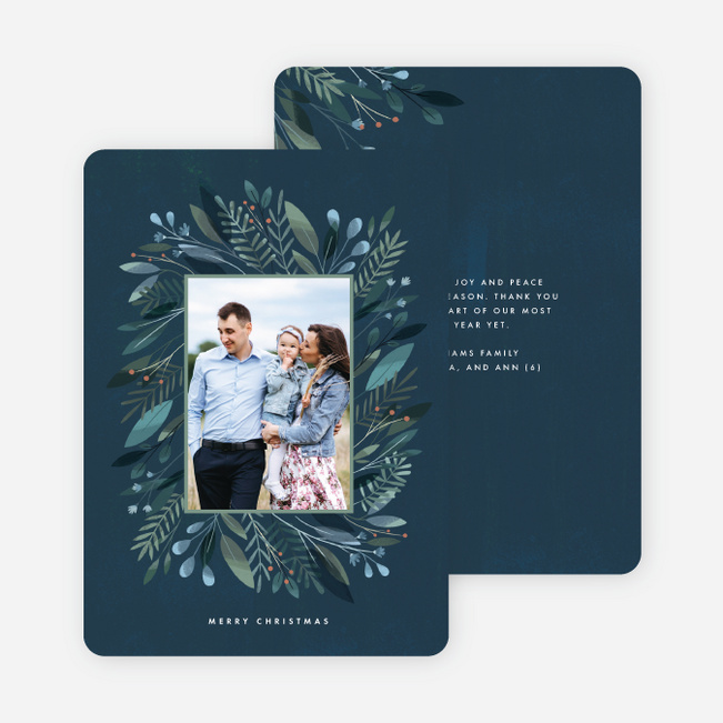 One Cool Wreath Christmas Cards Blue