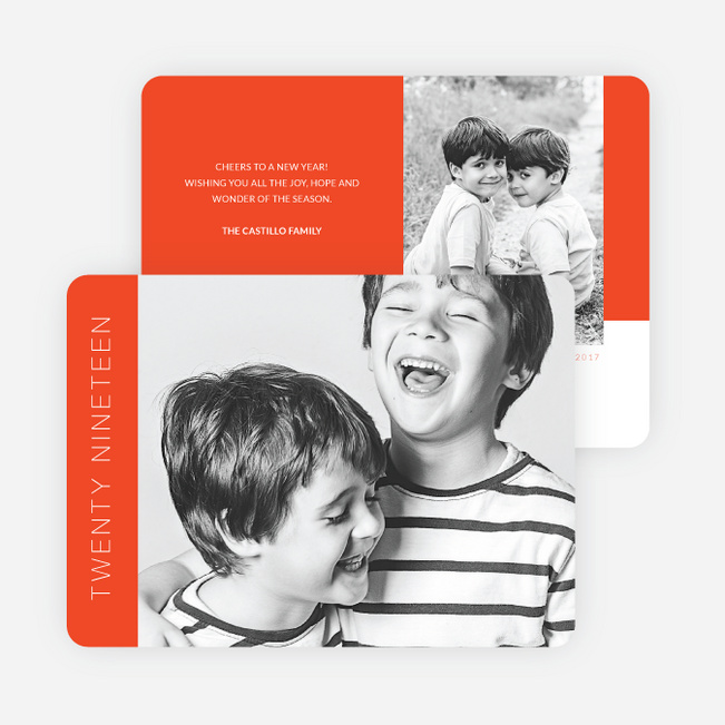 Bold New Year's Cards - Orange