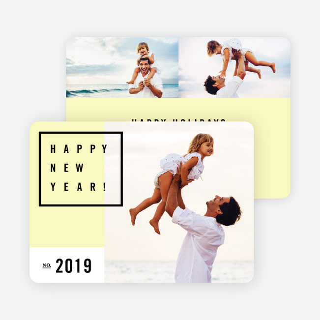 Be Modern New Year Cards - Yellow