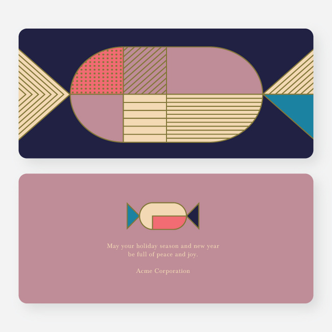 Geometric Candy Business and Corporate Holiday Cards - Multi