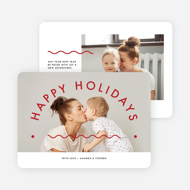 Happy Arc Holiday Cards - Red
