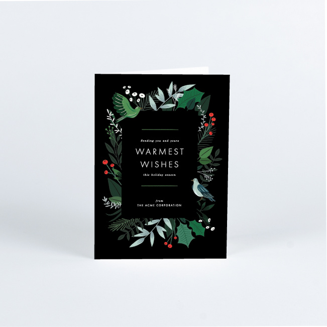 Lush Greenery Business and Corporate Holiday Cards - Multi