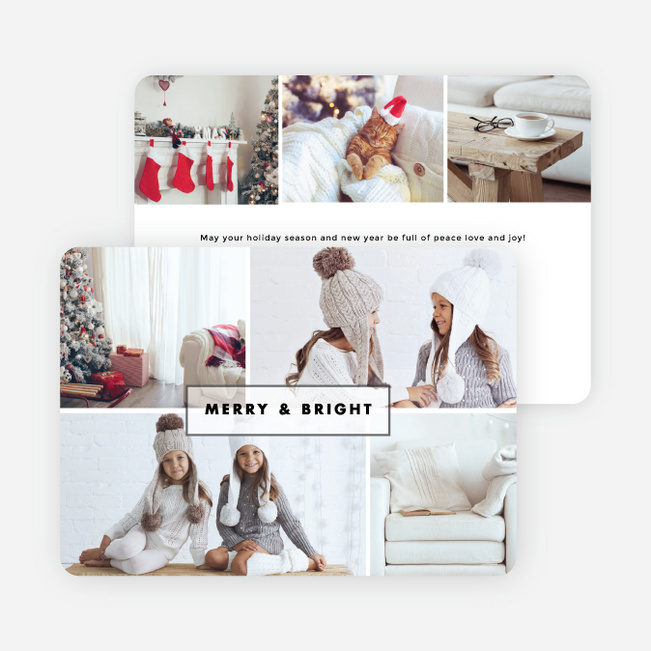 Photo Galore Holiday Cards - White
