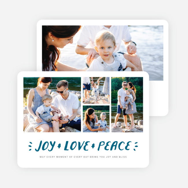 Three Wishes Holiday Cards - Blue