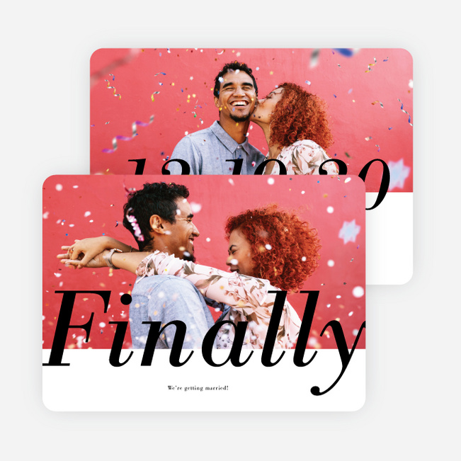 Finally Together Save the Date Cards - Black