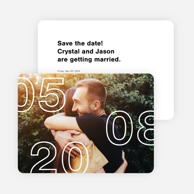 The Big Day Save the Date Cards - Black