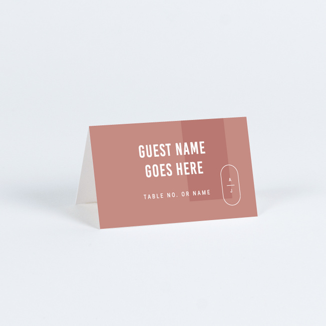 Artisanal Details Wedding Name Cards & Place Cards - Pink