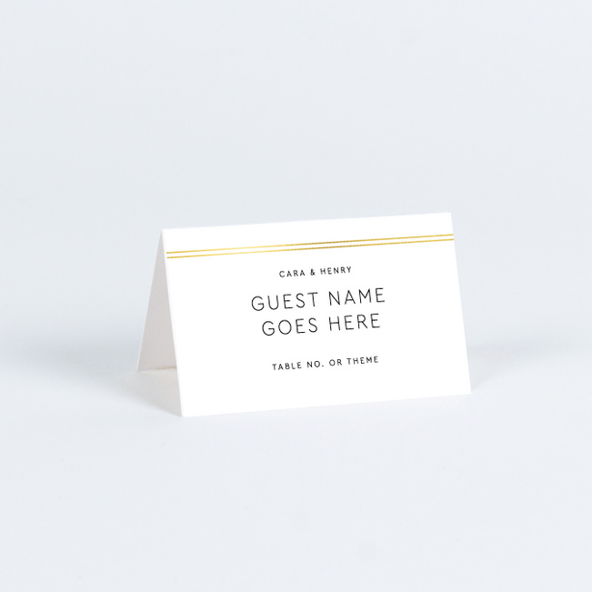 Foil You & Me Wedding Wedding Name Cards & Place Cards - Yellow