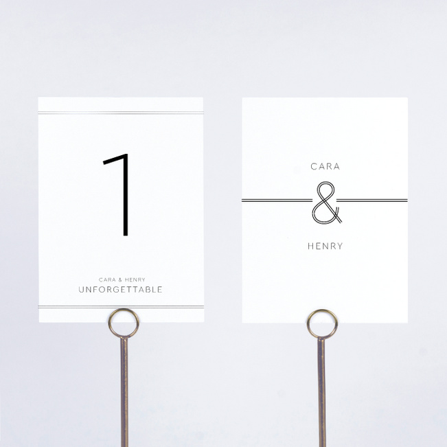 Foil You & Me Wedding Wedding Table Cards - Gray
