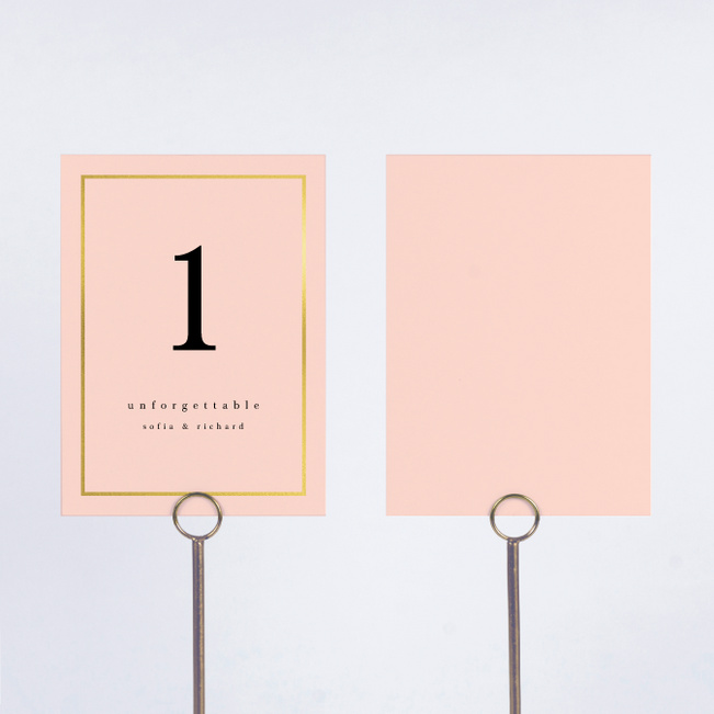 Less is More Wedding Table Cards - Pink