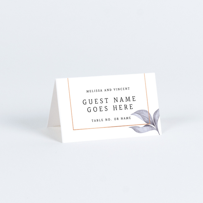 Modern Meets Vintage Wedding Name Cards & Place Cards - Pink