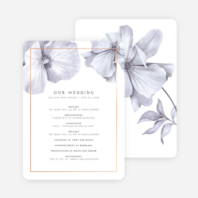 Modern Meets Vintage Wedding Programs - Pink
