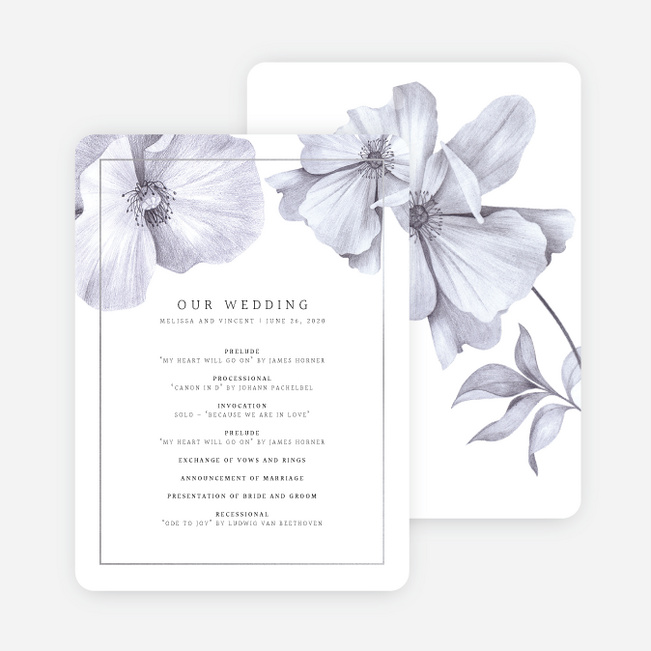 Modern Meets Vintage Wedding Programs - Gray