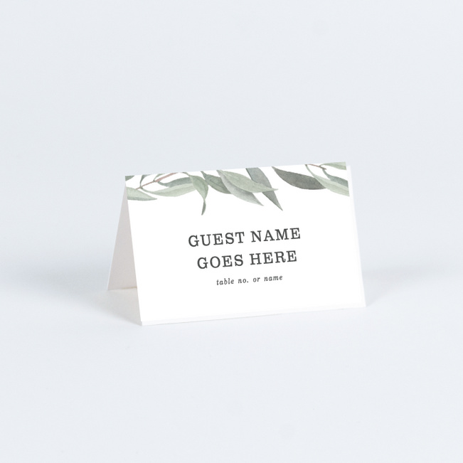 Olive You Wedding Name Cards & Place Cards - Green