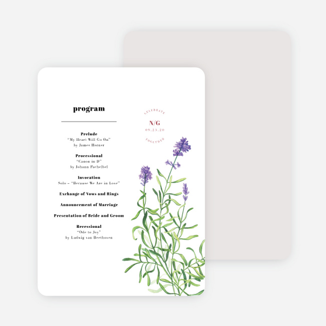 Wine Country Wedding Programs - White