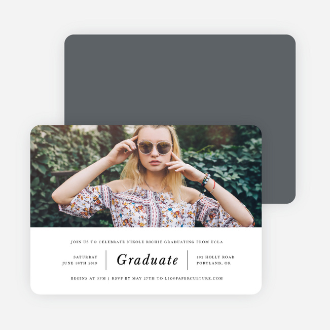 Grid Layout Graduation Invitations - Gray